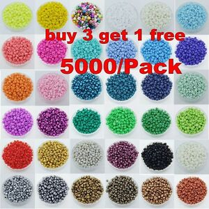 5000pcs-Cezch-Glass-Seed-Beads-Jewelry-Finding-Spacer-Beads-2mm-Various-Colors