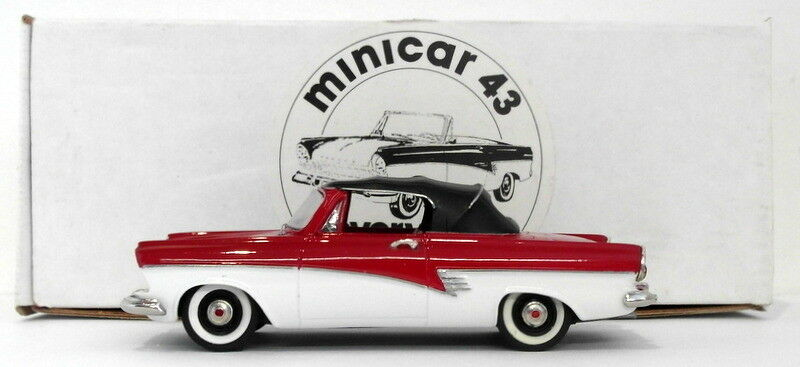Kenna Models Minicar 43 1 43 Scale EHE2 - 1958 Ford Taunus Top Up Red White