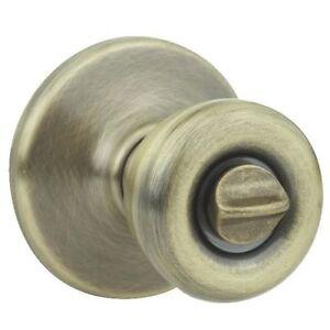 Kwikset 93001-235 POLO Privacy Knob Antique Brass 300P 5 RCAL RCS KI BBPKG