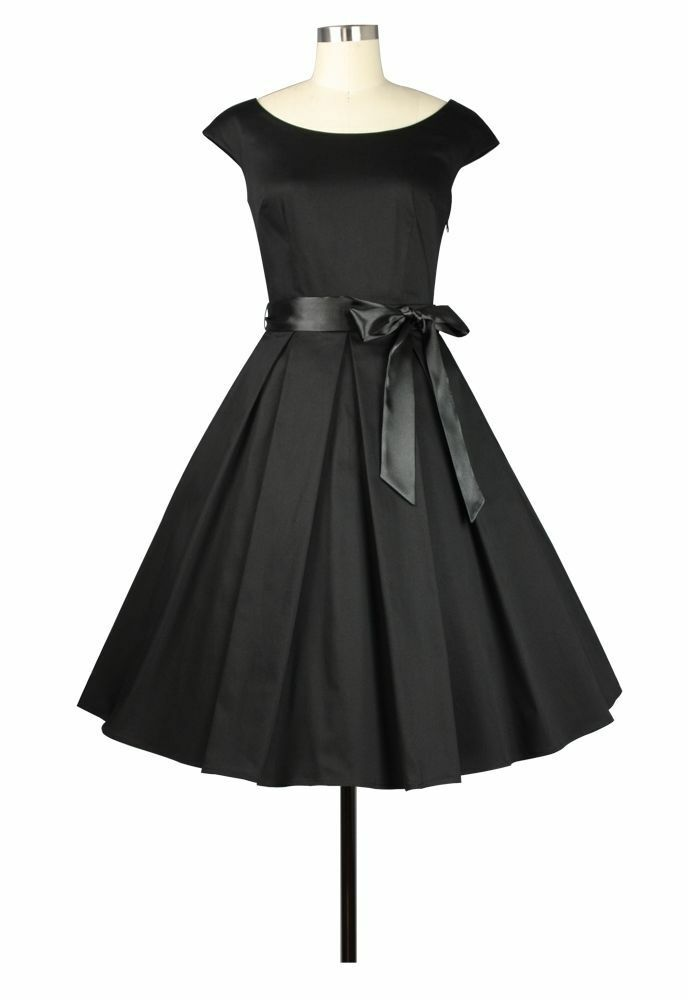 ANT 78000 Damen Kleid Rockabilly 50er 60er Dance Dress Vintage Retro schwarz 44