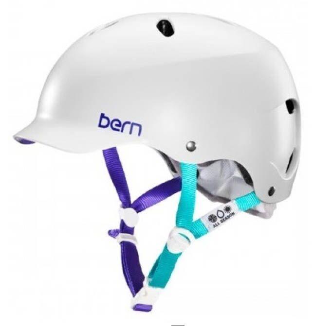 Bern Lenox Ladies' Watersports Helmet Canoe Kayak Wake Satin White M or L. 48835