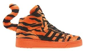 Image is loading Adidas-Originals-Jeremy-Scott-JS-Tiger-Orange-Black-