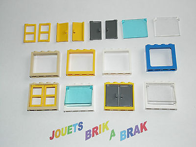 lego Fenetre Window 4x4x3 Roof Center Bar Fixed Glass choose color ref 6159 c01