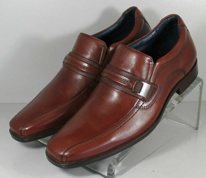 591702 SP50 Men's Shoes Size 9 M Brown Leather Slip On Johnston & Murphy