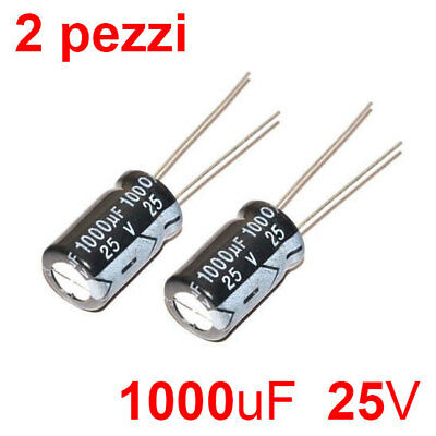 n.10 pezzi 1000uF 25V condensatore elettrolitico CAPXON