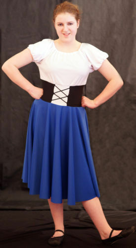 Stage-Victorian-Girls-OLIVER Blue NANCY Dress Fancy Dress//Dance Costume All Ages
