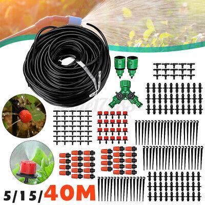 40M Tropfschlauch Automatische Bewässerungssystem Garten Schlauch Sprinkler Set