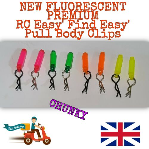 *NEW* Premium Fluorescent RC Body Clips For 1:10 1:12 more