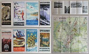 8-folletos-seruna-Baviera-034-Allgau-Spessart-Odenwald-U-W-034-para-1930-XZ