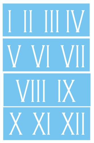 "Roman Numeral Stencil 3/"" Skinny Number Clock Shabby Cottage Vintage Address Home"