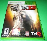 Wwe '12 Microsoft Xbox 360 Factory Sealed Free Shipping
