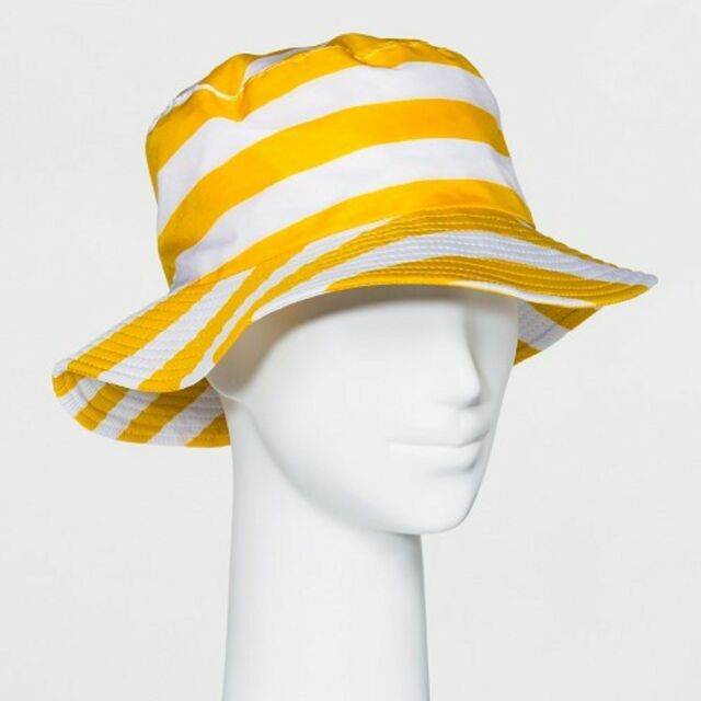 70962522d16fd Shedrain Bucket Rain Hat Travel Adult One Size Packabl YELLOW STRIPES gift