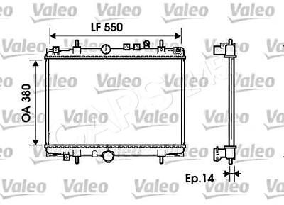 VALEO Engine Cooling Radiator Fits CITROEN C5 PEUGEOT 406 1998-2004