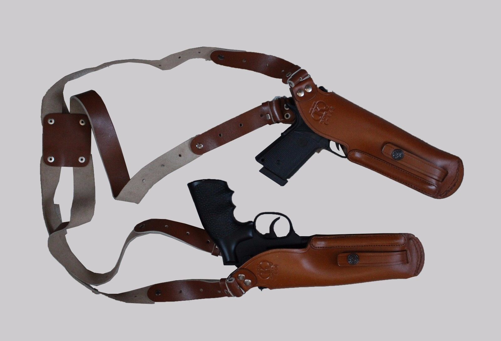 K448-CZ 2 Gun Vertical Shoulder Holster Fits Fits Fits CZ 75 with 4