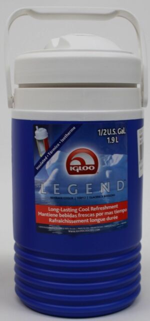 Igloo Legend Insulated Flip Spout Blue Beverage Cooler 1//2 Gal 1.9 L  NWT