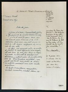 1926-Litografia-Ordre-del-giorno-del-039-Amiral-Gauchet-di-19-Mai-1919-14-18