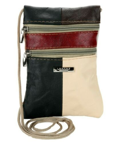Ladies Genuine Soft Real Leather Multicolour Zipped Holiday Travel Passport Bag