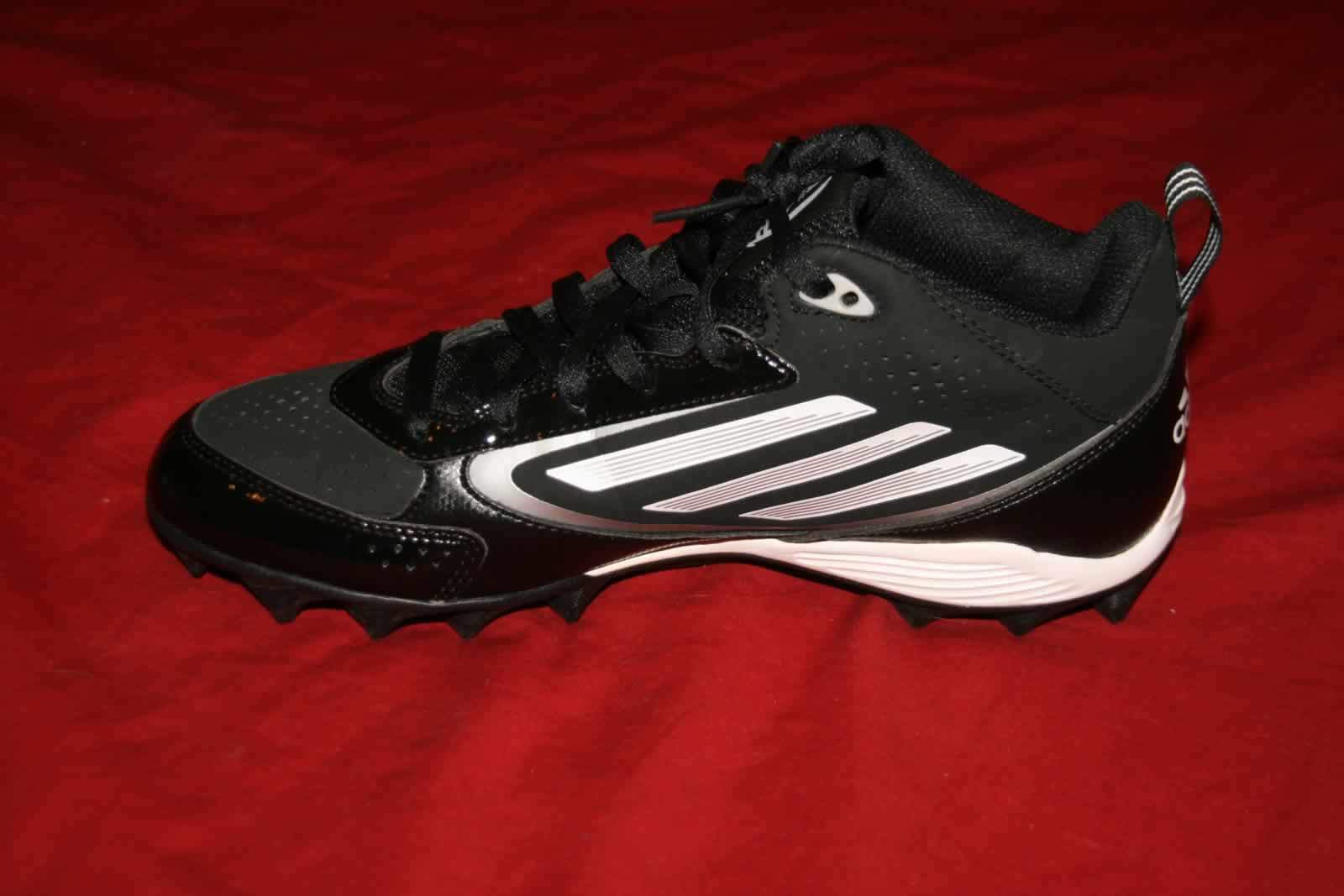 Adidas Lightning Football Cleats Sz 10 Black and White Seasonal price cuts, discount benefits