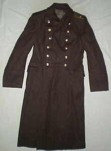 Vintage Russian Soviet Military Coat Uniform Army Officer Overcoat ...