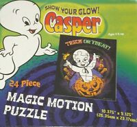 Casper The Ghost Glow In The Dark 24 Piece Puzzle Factory Sealed 2007