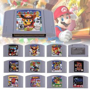 For-Nintendo-64-N64-Mario-Smash-Bros-Mario-Party-Game-Cartridge-Console-AU-Card