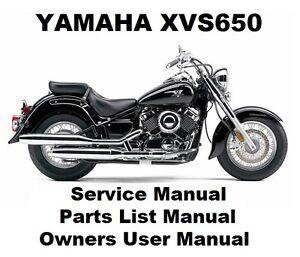 yamaha xvs650 v star drag owners workshop service repair parts rh ebay com 2003 Yamaha XVS650 2003 Yamaha XVS650