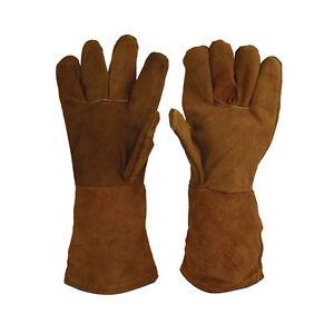 Premium-Brown-Heat-Resistant-Melting-Furnace-Gloves-Refining-Gold-Silver