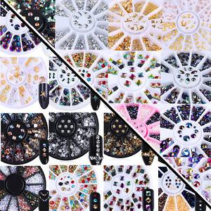 3D-Nail-Art-Tips-Studs-Gem-DIY-Crystal-Glitter-Rhinestone-Decoration-Wheel