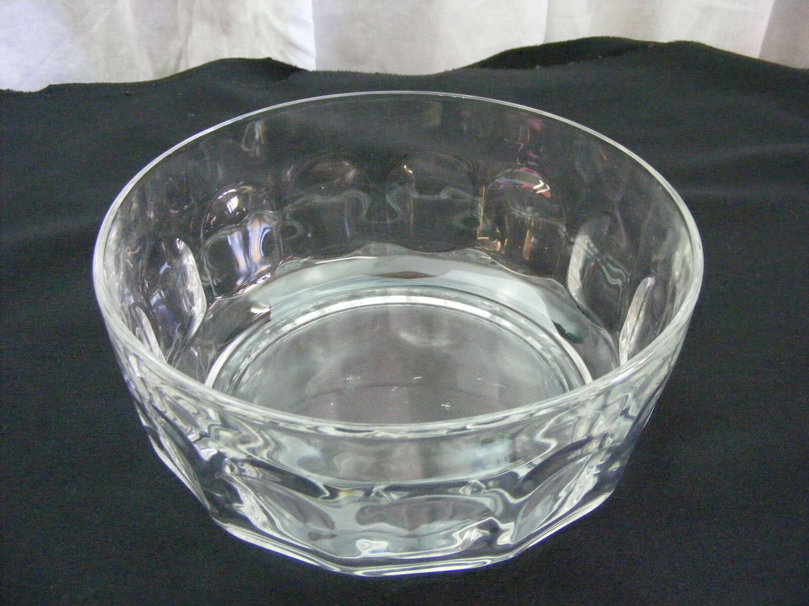Vintage Glass Candy Nut Serving Vegetable Bowl Dish Set of 2