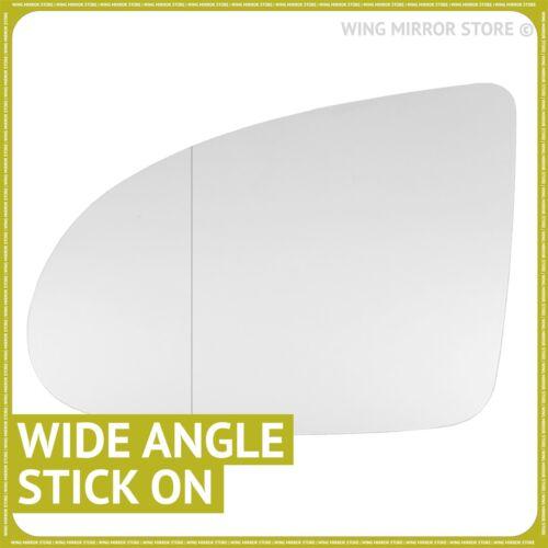 MAIN GAUCHE côté passager pour Audi A2 1999-2005 Grand Angle Wing mirror glass