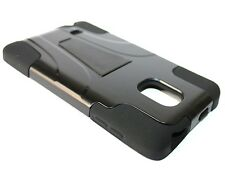 For Samsung Galaxy Note Edge - HARD & SOFT RUBBER HYBRID ARMOR SKIN CASE BLACK