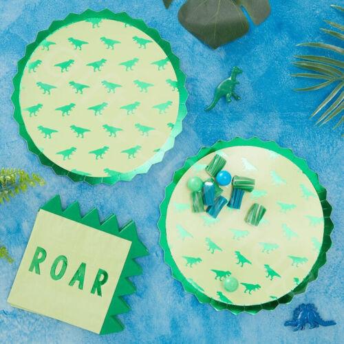 Dinosaur Jurassic Kids Childrens Birthday Party Supplies Decorations Tableware