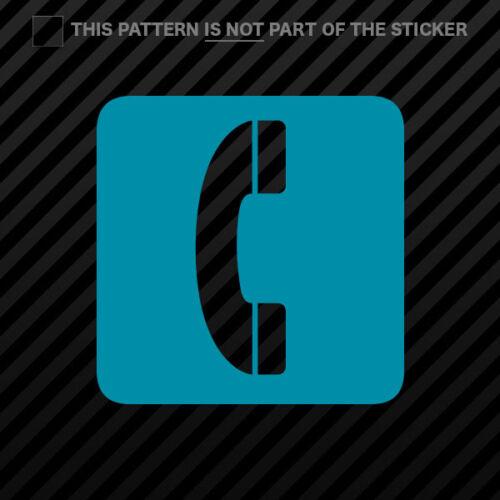 Telephone Sticker Self Adhesive Vinyl icon symbol 2 2x