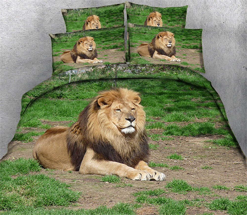 Lonely Neat Tiger 3D Printing Duvet Quilt Doona Covers Pillow Case Bedding Sets
