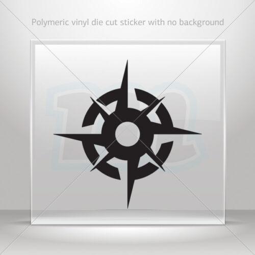 Sticker Decal Compass Helmet Motorbike Boat Door vinyl Garage st5 X586W