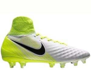 aa50a65bf63 Youth Nike Jr Magista Obra 2 II FG Soccer Cleats White Volt 844410 ...