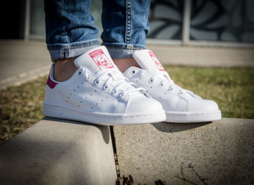 ADIDAS STAN SMITH B32703  Blanc BOLD Rose BRAND NEW IN BOXTaille 3, 4, 5