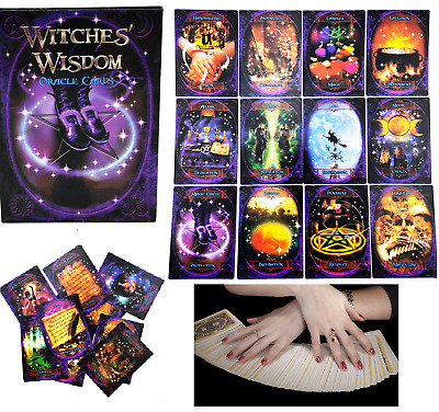 urbenlife 48PCS Carta del Tarot Witches Wisdom Oracle Cards Impresionante Mazo De 48 Cartas masterwork Eco Friendly