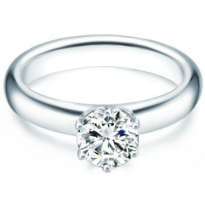 Tresor 1934 Damen Ring Verlobungsring Solitärring Sterling Silber 925-/ Ringe