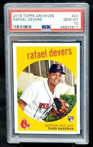 2018-Topps-Archives-Red-Sox-RAFAEL-DEVERS-Rookie-Card-PSA-10-GEM-MINT-Pop-66