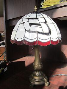 Dale earnhardt jr tiffany stained glass table lamp new ebay image is loading dale earnhardt jr tiffany stained glass table lamp aloadofball Choice Image