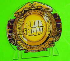 Bally CHAMPION PUB Original NOS Pinball Machine Promo Plasic Partial See Photo