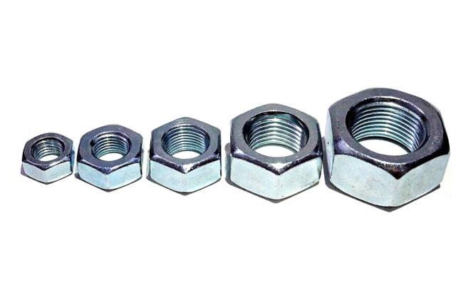 10 Stk DIN 985 Sicherungsmutter Stahl  verzinkt Feingewinde 1,5 Festigkeit 8