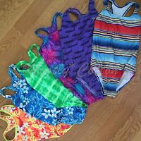 Girls Speedo Swimsuits 8 10 12 14 Tanks One-pieces Racerbacks T-backs Multi