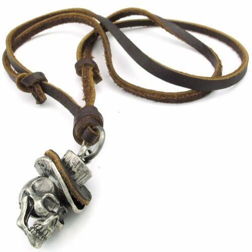 Gothic Skull Headdress Jewelry Men/'s Necklace Adjustable Sizes Alloy Pend M1Y3