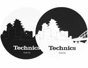 Coppia-Feltri-Panni-Antistatici-per-Giradischi-Slipmats-Technics-Skyline-Tokyo