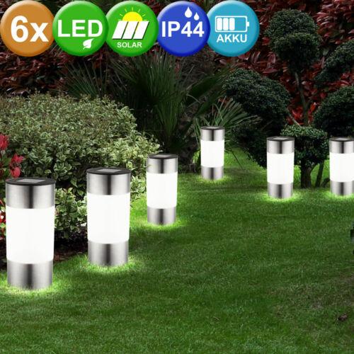 LED Solar Deko Außen Steck Erdspieß Lampe Halb-Kugel Leuchte Garten Beleuchtung