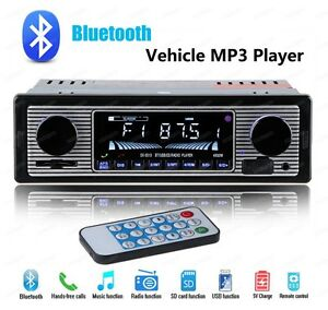 Classical Retro Style Bluetooth Car Stereo Radio Usb Sd Mp3 Aux In