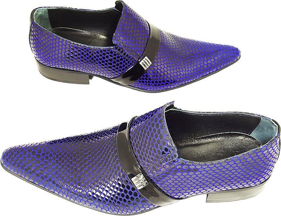 100% Chelsy-Italien Designer pantoufles fête pantoufles Designer netzmuster Noir Bleu 43 b1a190