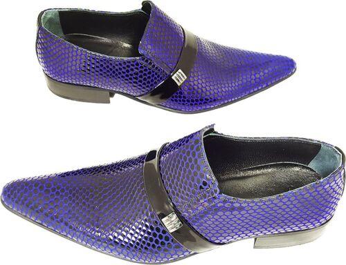Italian Bleu Noir 41 Slipper Designer Party Motif Maille Chelsy 100 6ZUxqwHW